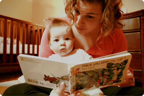 Maybe Goodnight Moon isn't thrilling literature, but reading to babies is so important!