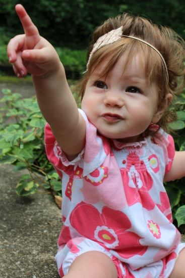 Pointing is vital to early language development. And a great conversation starter!