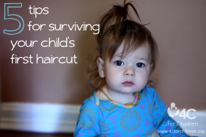 A child's first haircut is a big step... for mom and dad! How do you cope?