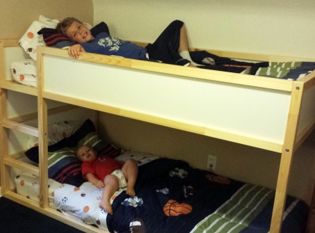 A toddler transitioning to a bunk bed is a big change!
