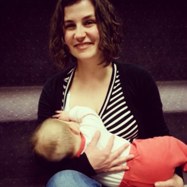 breastfeeding with an audience
